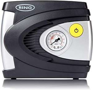 Ring RAC610 12V Analogue Tyre Inflator, Air Compressor Tyre Pump - £12.80 Prime (+ £4.49 Non Prime) @ Amazon
