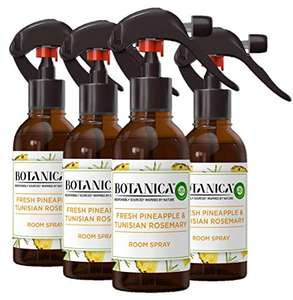 Botanica by Air Wick Air Freshener Room Spray Pack of 4 £10 + £4.49 NP £9.00 with S&S + 20% Off First Time S&S Users @ Amazon