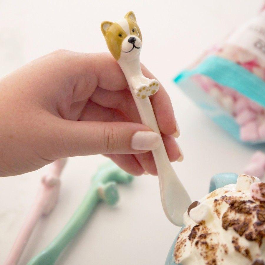Ceramic Dog Spoon £5 delivered @ Lisa Angel Jewellery