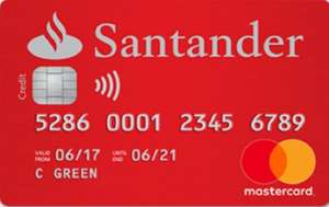 No Fee + 0% interest on balance transfers for 18 months Credit Card 20.9% APR @ Santander