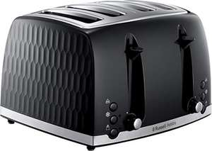 Russell Hobbs 26071 4 Slice Toaster - Contemporary Honeycomb Design with Extra Wide Slots and High Lift Feature, Black £28 @ Amazon