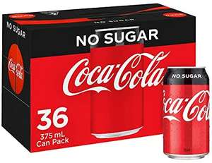 36 cans Coke Zero 330ml at Tesco (Nationwide) for £10
