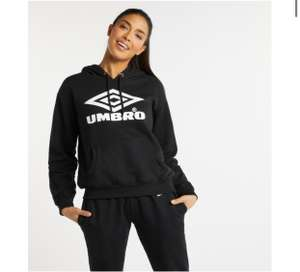 Women's Classic Oh Hoodie Black / White £15.99 Delivered @ Umbro