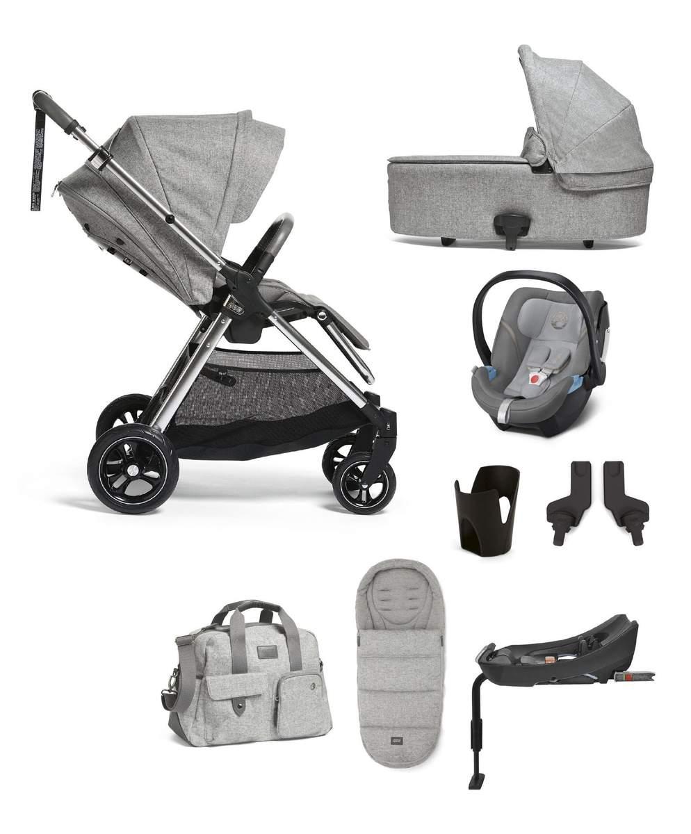 Flip XT³ 8 Piece Bundle + Cybex Aton 5 Baby Car Seat - Skyline Grey @ £799 Mamas & Papas