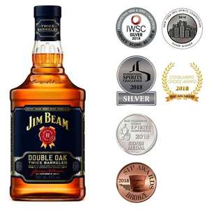 Jim Beam Double Oak Kentucky Straight Bourbon 70cl 43% for £20 at Morrisons (min purchase / delivery charge applies)