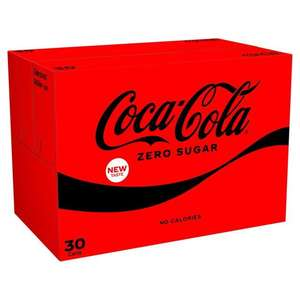 Coke Zero 30 cans x 330ml for £8.75 at Morrisons (min purchase / delivery charge applies)
