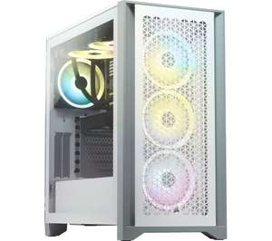 CORSAIR 4000D AIRFLOW Tempered Glass ATX Mid-Tower PC Case - White £74.99 at Currys PC World