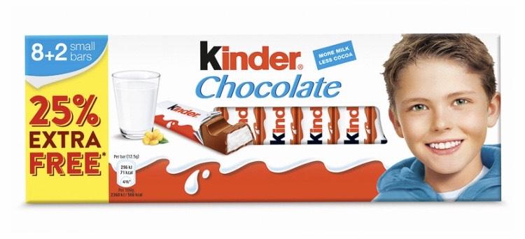10 Kinder milk bars £1 instore @ Farmfoods Dunstable