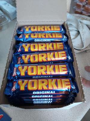 Box of 36 yorkie bars £5 instore at The Company Shop Manchester