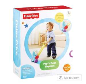 Fisher Price Pop 'n' Push Elephant Toy £5 / £8.95 delivered @ only5pounds.com