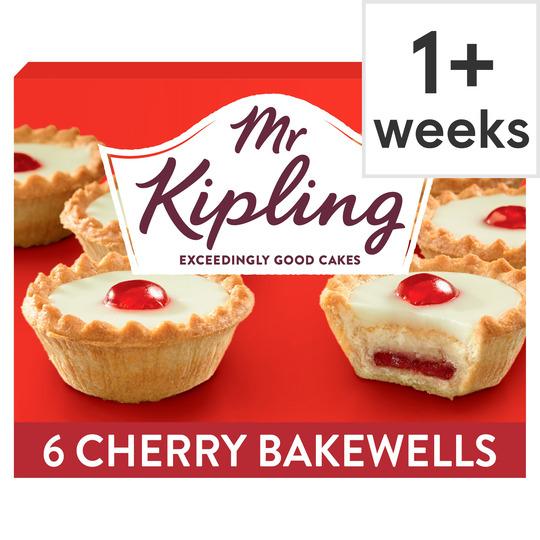 Mr Kipling Cherry Bakewells 6 Pack - 85p (Clubcard Price) @ Tesco