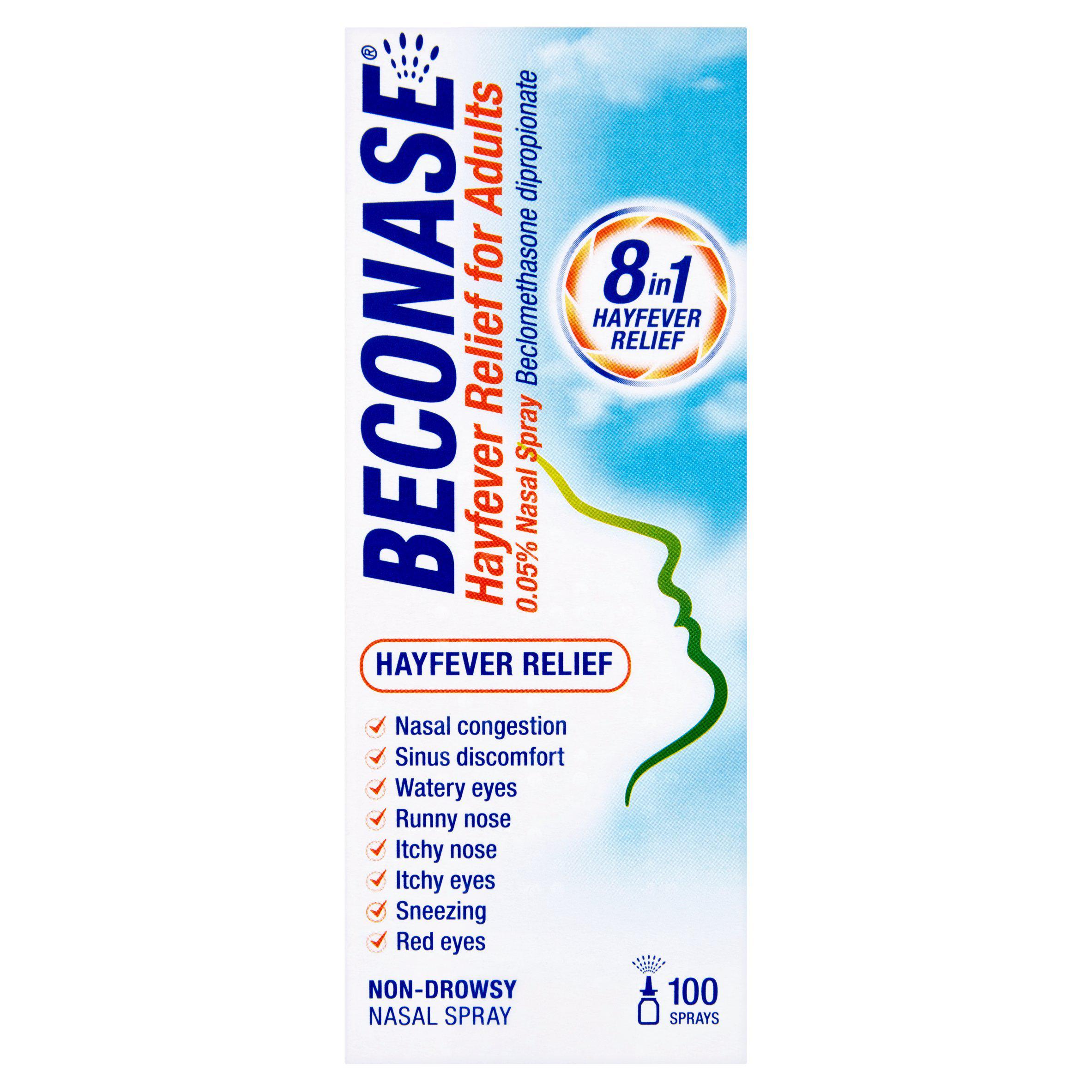 Beconase Hayfever Relief, Adult 100 sprays £4 @ Sainsbury's