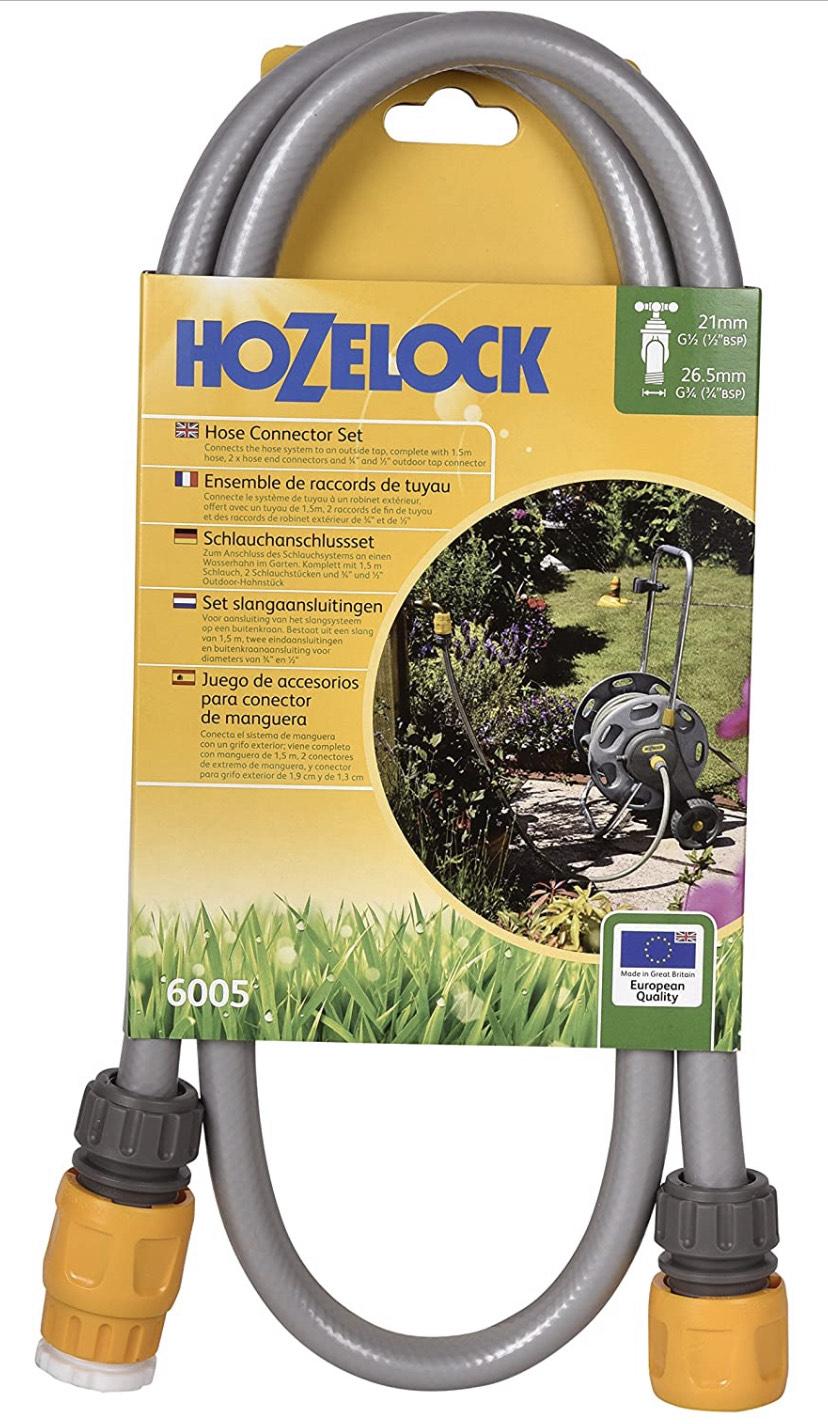 Hozelock 6005A0000 Hose Connection Set, Grey, Yellow £8.95 Amazon Prime (+£4.49 Non Prime) @ Amazon