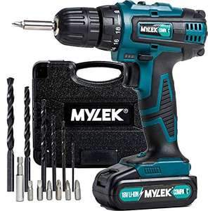 MYLEK 18V Cordless Drill Driver, £39.95 at Amazon dispatched from and sold by Direct Sales