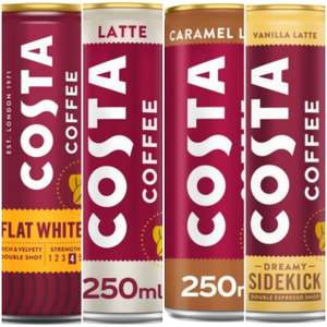 Costa Vanilla Latte/ Costa Coffee Caramel Latte/ Costa Coffee Latte (All 250ml)/ Costa Coffee Flat White (200ml) £1 at Morrisons