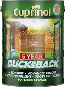 Cuprinol Ducksback Shed + Fence Treatment 5L - £8.40 @ Travis Perkins