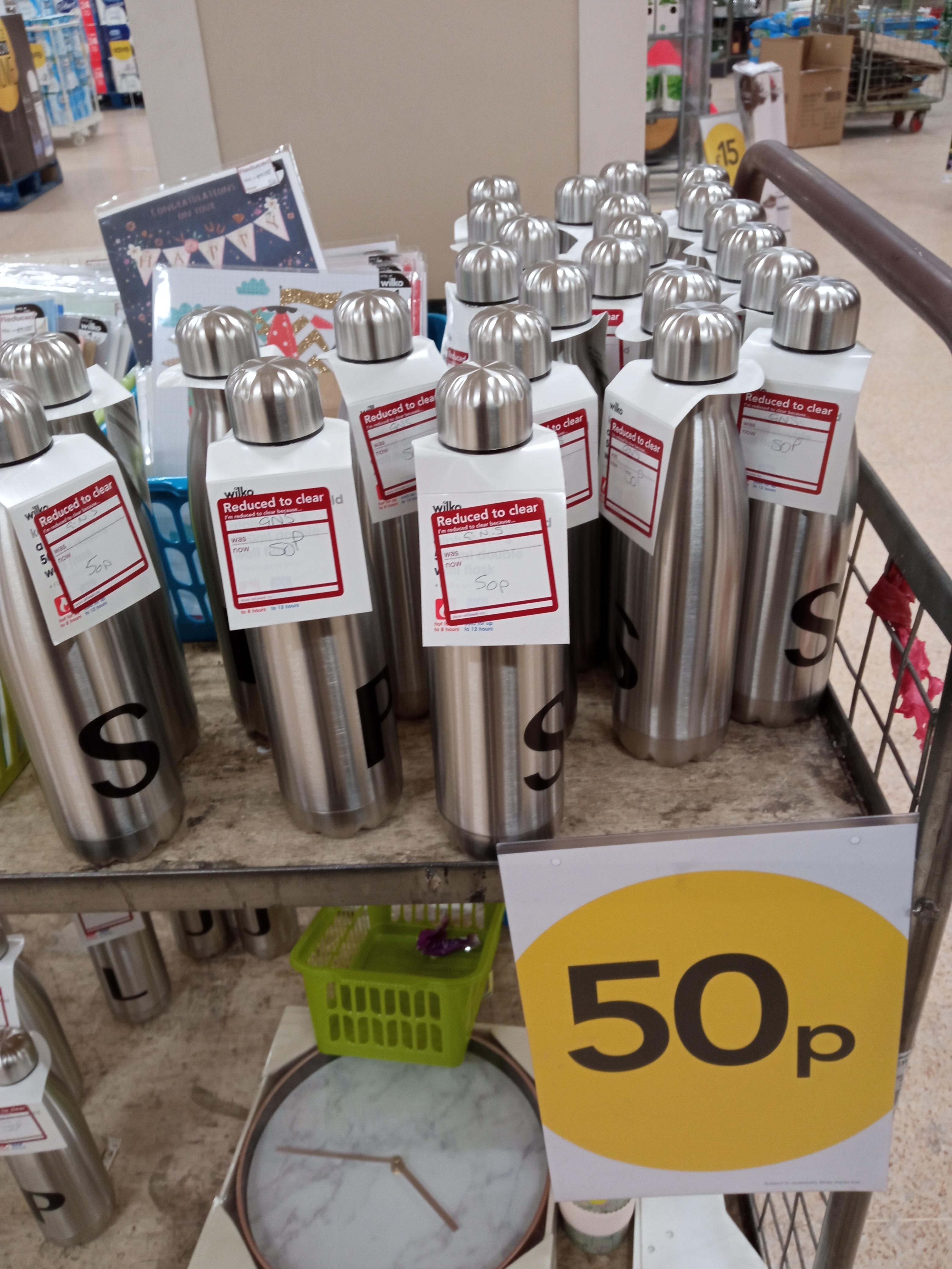 Wilko Double Wall Bottle 500ml Only 50p at Wilko Darlington