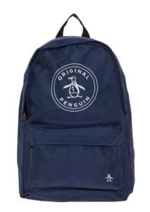 ORIGINAL PENGUIN Navy Canvas Backpack £10 - £1.99 C&C / £3.99 delivery at TK Maxx