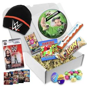 WWE Home Video Easter Gift Box DVD, Hat, Figure for £9.99 (+£3.90 Delivered) @ WWE Store