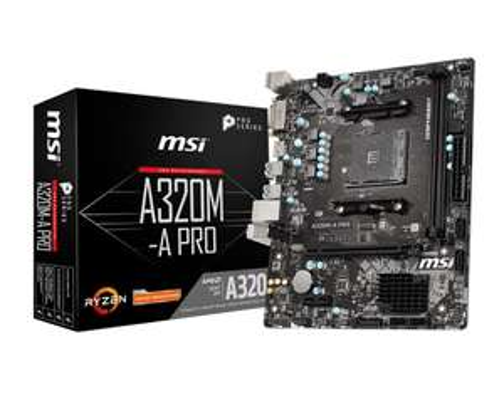 MSI A320M-A PRO AMD Socket AM4 Motherboard - £39.99 @ CCLOnline