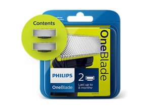 2x Official Philips Oneblade Replacement Blades Delivered for £10.99 @ Philips Store