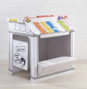 £5 off Hobbycraft Cardboard Colour in Playhouses - £12 + £4.50 delivery for orders under £25 or free Click & Collect £10+ @ Hobbycraft