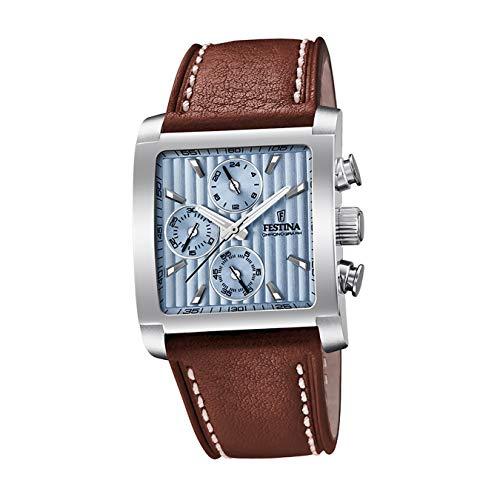 Festina Mens Chronograph Quartz Watch with Leather Strap F20424/1 - £63.95 @ Amazon