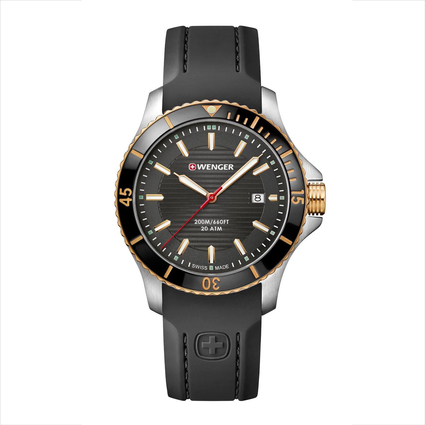 Wenger Seaforce Men's Quartz Black Silicone Strap Watch £84 at H Samuel