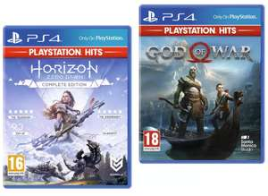 PS4 Horizon Zero Dawn Complete Edition / God of War (Playstation Hits) - £7.99 each @ Argos (free collection)