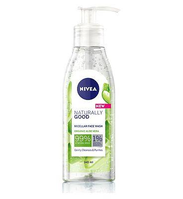 NIVEA Naturally Good Face Wash 140ml - £1 + £1.50 click & collect at Boots