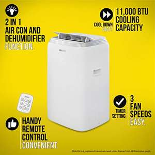 Zanussi ZPAC11001 BTU Air Conditioner, 1250 W, 1 Liter, White [Energy Class A] - £322.50 @ Amazon