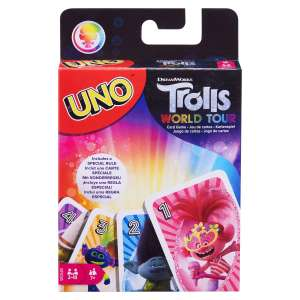 DreamWorks Trolls World Tour UNO Card Game £3.50 + £3.99 del at The Entertainer