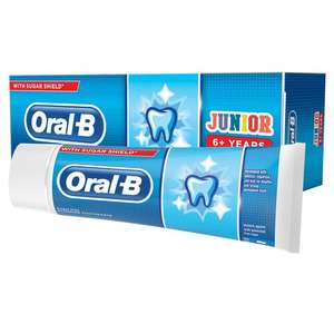 Oral b Junior (6+) kids toothpaste 75ml - 29p at Farmfoods Worksop in store