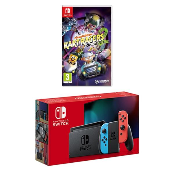Nintendo Switch Neon & Nickelodeon Kart Racers 2 bundle deal £284.99 @Smyths toys
