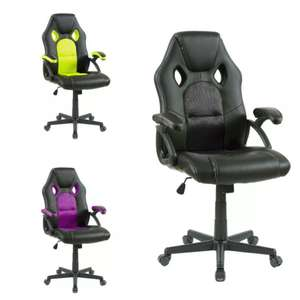 Swivel PU Leather Mesh Office Racing/Gaming Chair for £53.59 delivered @ eBay / neodirect