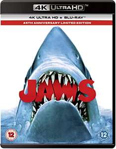 Jaws 45th Anniversary Edition [4k Blu-ray UHD] £9.99 with any purchase in store @ HMV Arndale