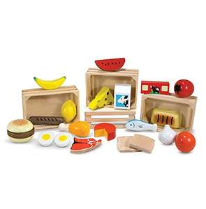 Melissa & Doug Food Groups-Pretend Play,21 Hand-Painted Wooden Pieces & 4 Crates £6.16 Prime (+£4.49 Non Prime) @Amazon