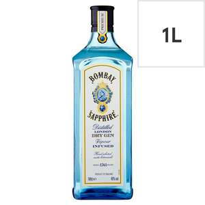 Bombay Sapphire Gin 1 litre £22 at Tesco