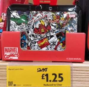 Marvel lunch box £1.25 at Morrisons Sheffield