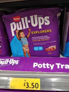 Huggies pull ups 28pk £3.50 at Morrisons