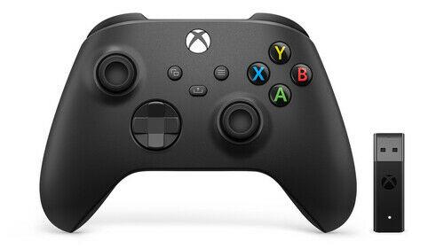 Microsoft Xbox Wireless Controller + Wireless Adapter - Black - Customer Cancelled Item, Seller refurbished - £39.99 @ techsave2006 / ebay