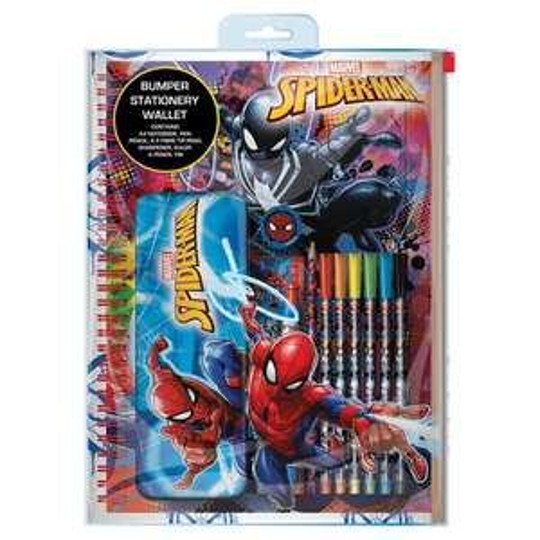 Spiderman Bumper Stationery Set £4.50 (Clubcard price) @ Tesco