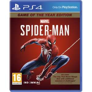 Spiderman GOTY Edition PS4 - £20 delivered (UK Mainland) @ AO