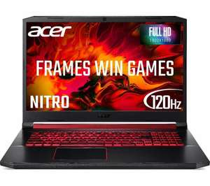 """ACER Nitro 5 AN517 17.3"""" Gaming Laptop - Intel Core i7, RTX 2060, 8GB, 256 GB SSD - £806 with code @ Currys eBay"""