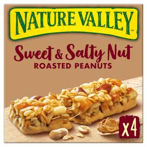 Nature Valley Sweet and Salty Nut 4 x 30g bars £1 (Clubcard price) at Tesco