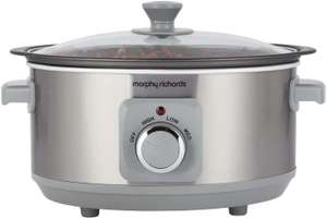 Morphy Richards 460018 Sear & Stew 3.5 Litre Aluminium Slow Cooker, One-Pot Solution - £15.72 (+£4.49 Non Prime) @ Amazon