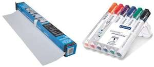 Magic Whiteboard and Staedtler Lumocolor Whiteboard Marker 351WP6 Bullet Tip - £10.69 Prime /+£4.49 Non Prime @ Amazon