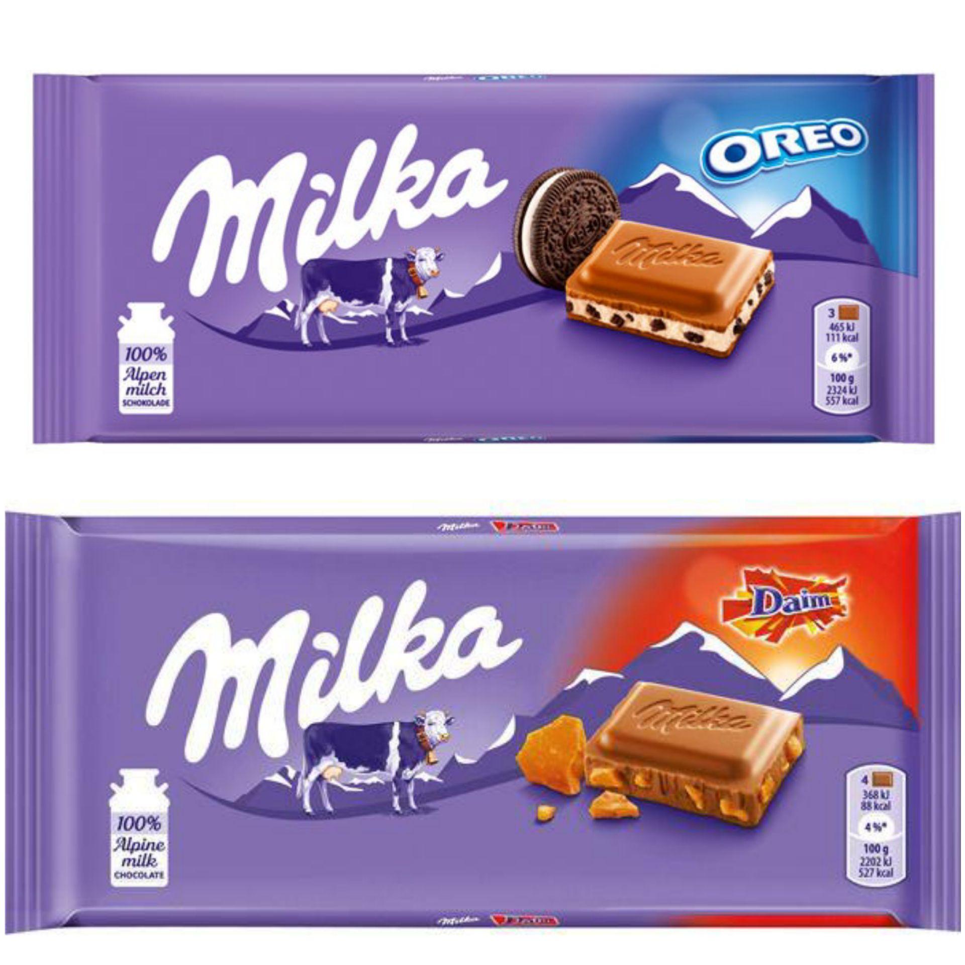 Milka Oreo/Daim bars 100g 75p @ Poundland Small Heath