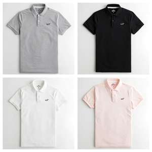 Hollister Stretch Polo (14 Colours / XXS - XXL / Standard & Muscle Fit) £9.62 & Free Delivery via App @ Hollister