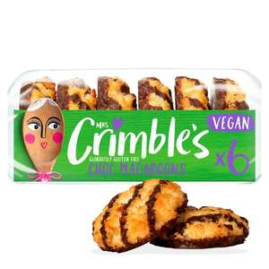 Mrs Crimbles 6 Gluten Free Vegan Chocolate Macaroon 195g - £1 at Tesco